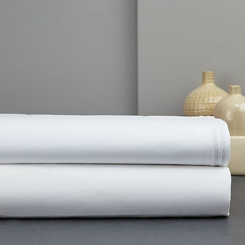 Hudson Park Collection - Italian Percale Stitch Extra Deep Flat Sheet, King - 100% Exclusive