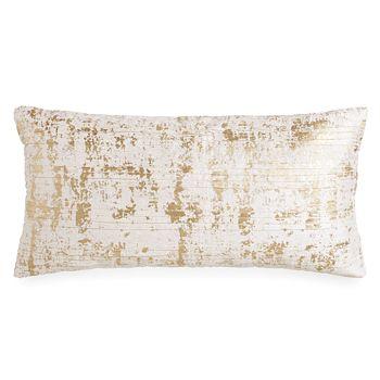 "Donna Karan - Opal Essence Metallic Printed Decorative Pillow, 11"" x 22"""