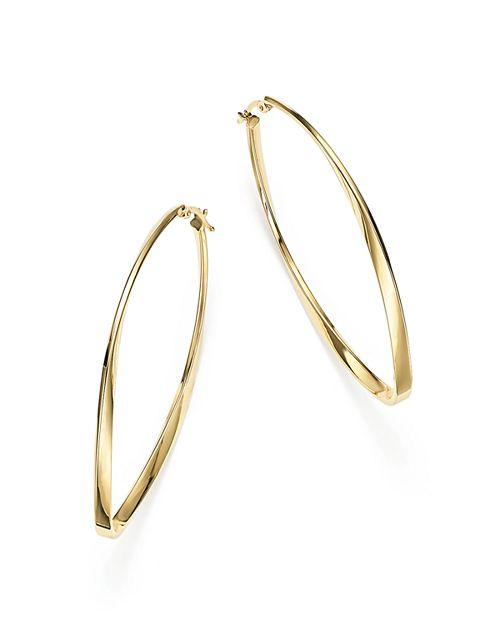 Bloomingdale's - 14K Yellow Gold Twisted Oval Hoop Earrings - 100% Exclusive