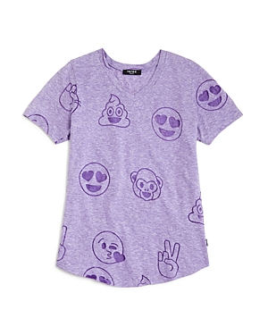 Terez Girls' Emoji Burnout Tee - Sizes 4-6X