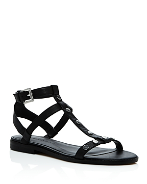 Rebecca Minkoff Sandy Studded Leather T Strap Sandals