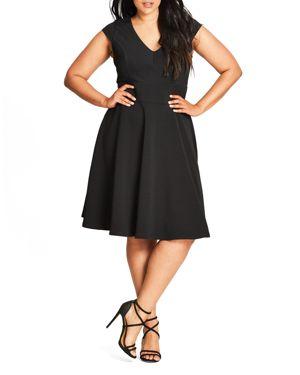 City Chic Chevron Dress