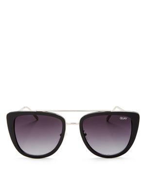 Quay Women's French Kiss Oversized Square Sunglasses, 54mm