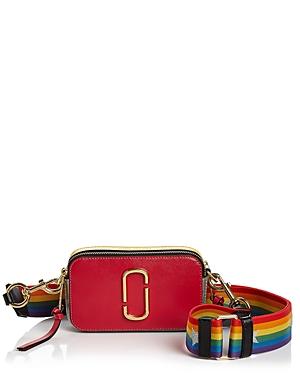 Marc Jacobs Snapshot Rainbow Strap Color Block Saffiano Leather Camera Bag