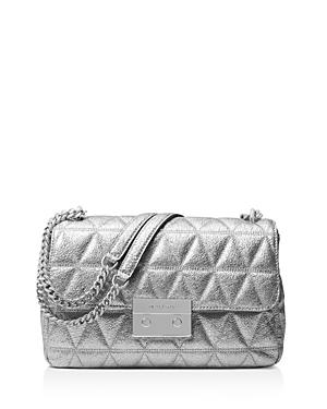 Michael Michael Kors Sloan Chain Large Metallic Leather Shoulder Bag