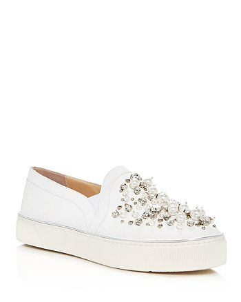 Stuart Weitzman - Women's Decor Embellished Slip-On Platform Sneakers