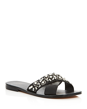 Botkier Alina Jeweled Slide Sandals
