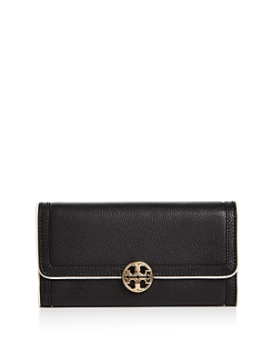 Tory Burch Duet Envelope Leather Continental Wallet