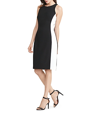 Lauren Ralph Lauren Petites Side-Stripe Sheath Dress