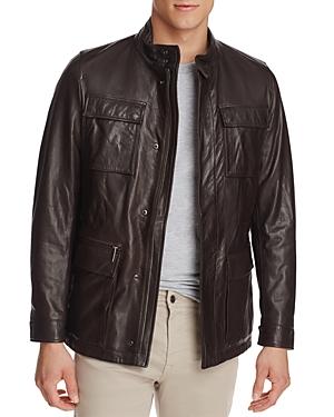 Boss Gribbin Leather Field Jacket