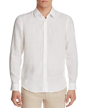 Boss Lukas Linen Regular Fit Button-Down Shirt