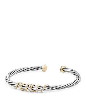 David Yurman - Helena Center Station Bracelet with Diamonds and 18K Gold