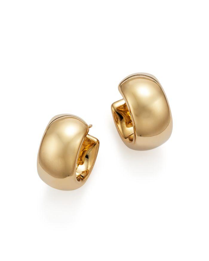Bloomingdale's 14K Yellow Gold Wide Band Polished Hoop Earrings - 100% Exclusive  | Bloomingdale's