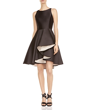 Halston Heritage Double Face Satin Dress