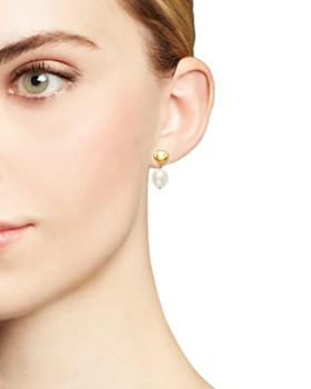 Bloomingdale's - Cultured Freshwater Pearl Drop Earrings in 14K Yellow Gold, 8mm - 100% Exclusive