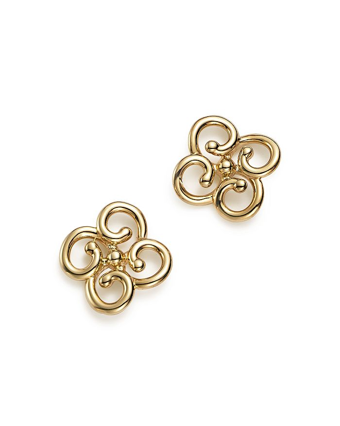 Bloomingdale's - 14K Yellow Gold Twist Clover Earrings - 100% Exclusive
