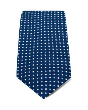 HILDITCH & KEY SMALL ALTERNATING DOTS WIDE TIE