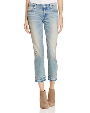 True Religion Cora Mid Rise Straight Jeans in Blue Dream