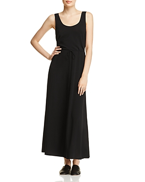 Vince Scoop Neck Wrap-Detail Maxi Dress