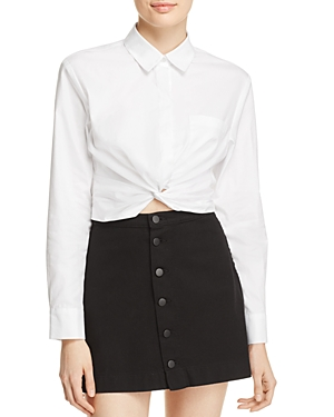 T by Alexander Wang Twist-Front Shirt