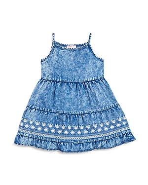 Design History Girls Chambray Embroidered Dress  Little Kid
