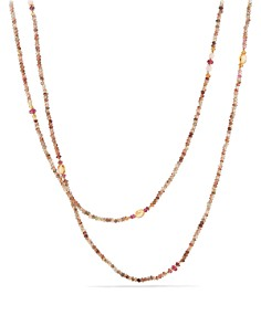 David Yurman - Mustique Beaded Necklace with Andalusite, Citrine and Pink Tourmaline in 18K Yellow Gold