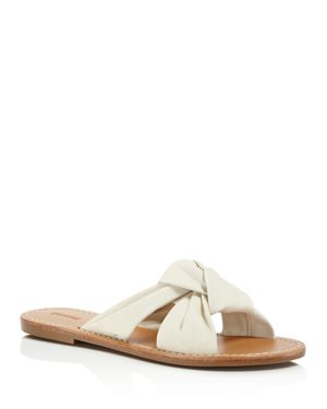 Soludos Leather Knotted Slide Sandals