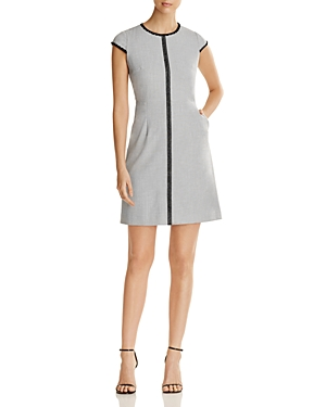 T Tahari Agatha Lace Trim Dress