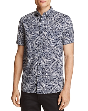 Michael Bastian Banana Leaf Print Regular Fit Button-Down Shirt - 100% Exclusive