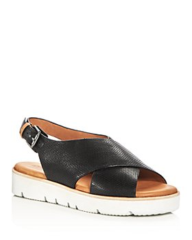 Gentle Souls by Kenneth Cole - Women's Kiki Perforated Leather Slingback Platform Sandals