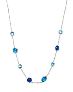 IPPOLITA - Sterling Silver Rock Candy® Wonderland Mini Gelato Doublet Short Station Necklace in Island, 16""