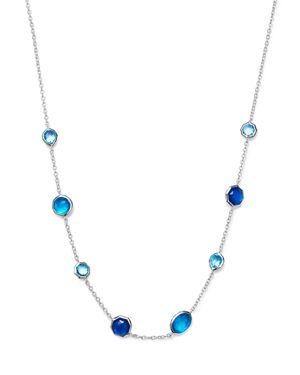 Ippolita Sterling Silver Rock Candy Wonderland Mini Gelato Doublet Short Station Necklace in Island,