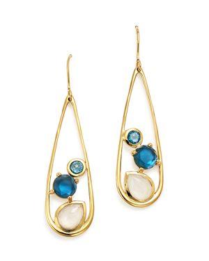 Ippolita 18K Yellow Gold Rock Candy Multi Stone Doublet Drop Earrings in Raindrop