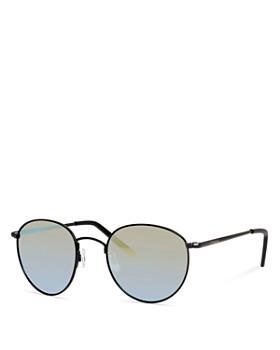 Polaroid - Men's Polarized Mirrored Round Sunglasses, 51mm