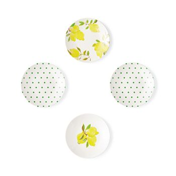 kate spade new york - Lemon Tidbit 4-Piece Plate Set