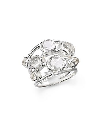 IPPOLITA - Sterling Silver Rock Candy Constellation Ring in Clear Quartz