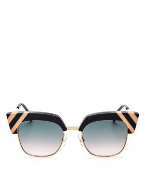 Fendi Square Cat Eye Sunglasses, 50mm