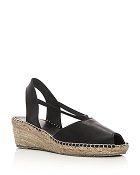 Andre Assous - Women's Dainty Leather Slingback Espadrille Sandals