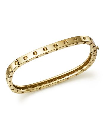 Roberto Coin - 18K Yellow Gold Pois Moi Single Row Bangle