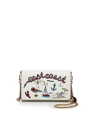 Tory Burch Embroidered Chain Wallet Crossbody