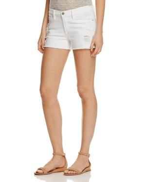 Frame Le Cutoff Shorts in Blanc Taffs