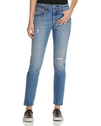 776dcbddef746 Levi s - 501 reg  Distressed Skinny Jeans in Post Modern Blues