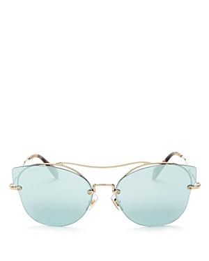 Miu Miu Mirrored Cat Eye Sunglasses, 66mm