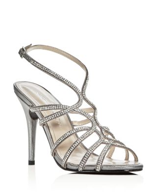 HELENA EMBELLISHED SATIN HIGH-HEEL SANDALS
