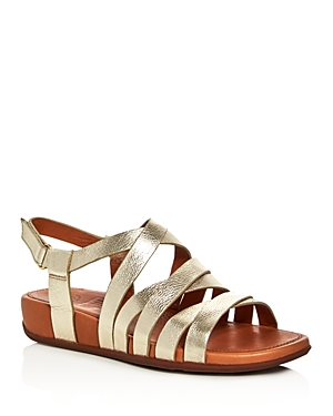 FitFlop Lumy Metallic Crisscross Demi Wedge Sandals