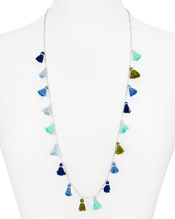 AQUA - Mina Tassel Necklace, 36""