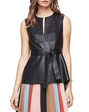 Bcbgmaxazria Joslynn Faux Leather Top