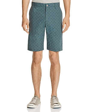 Wrk Tristen Geometric Print Slim Fit Shorts
