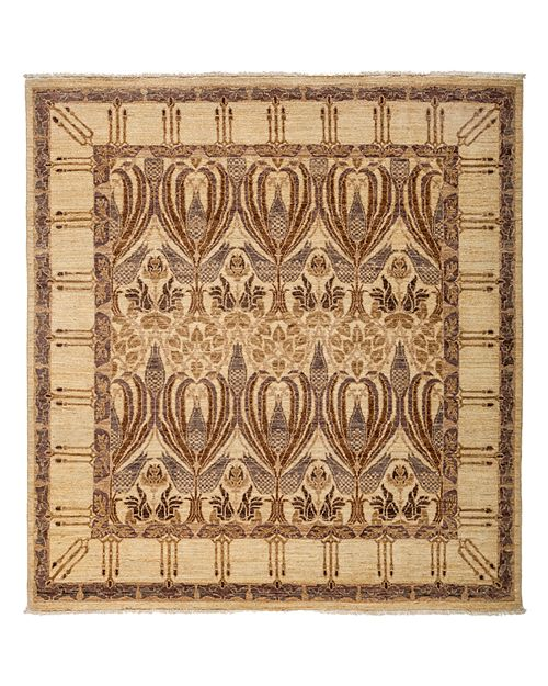 """Solo Rugs - Arts and Crafts Area Rug, 5'9"""" x 6'3"""""""