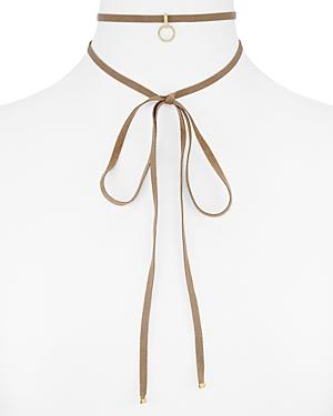 Nadri Pave Charm Wrap Choker Necklace, 60